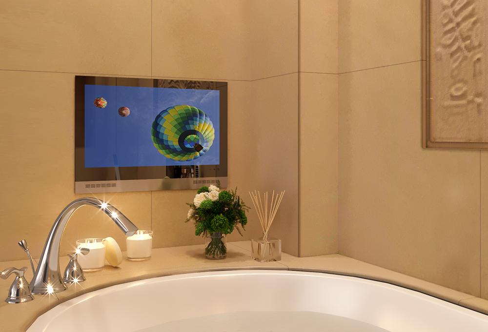 Ocea Bathroom TV installed in the bathtub